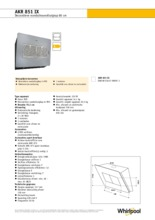 Product informatie WHIRLPOOL afzuigkap AKR851IX