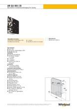 Product informatie WHIRLPOOL afzuigkap ARGA001IX