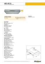 Product informatie WHIRLPOOL afzuigkap onderbouw AKR409IX