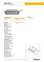 Product informatie WHIRLPOOL afzuigkap vlakscherm AKR469IX