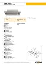 Product informatie WHIRLPOOL afzuigkap vlakscherm AKR749IX