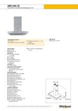 Product informatie WHIRLPOOL afzuigkap wand rvs AKR666IX