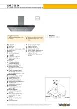 Product informatie WHIRLPOOL afzuigkap wand rvs AKR759IX