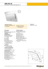 Product informatie WHIRLPOOL afzuigkap wand rvs AKR855IX