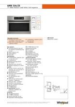 Product informatie WHIRLPOOL combi-magnetron inbouw AMW504IX