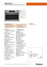 Product informatie WHIRLPOOL combi-magnetron inbouw AMW505IX
