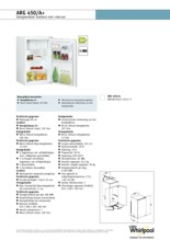 Product informatie WHIRLPOOL koelkast inbouw ARG450/A+