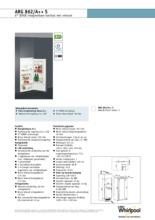 Product informatie WHIRLPOOL koelkast inbouw ARG862/A++ S