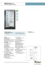 Product informatie WHIRLPOOL koelkast inbouw ARZ013/A++ S