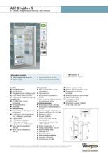 Product informatie WHIRLPOOL koelkast inbouw ARZ014/A++ S
