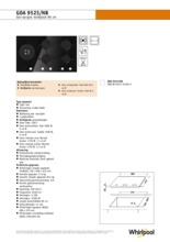 Product informatie WHIRLPOOL kookplaat gas-op-glas GOA9523NB