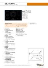 Product informatie WHIRLPOOL kookplaat inductie ACM795BA/01