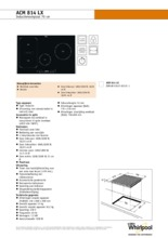 Product informatie WHIRLPOOL kookplaat inductie ACM814LX