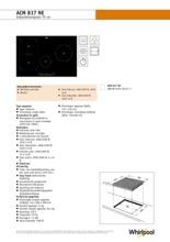 Product informatie WHIRLPOOL kookplaat inductie ACM817NE