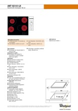 Product informatie WHIRLPOOL kookplaat keramisch AKT8210LX