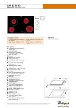 Product informatie WHIRLPOOL kookplaat keramisch AKT8330LX