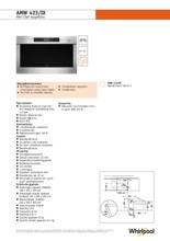 Product informatie WHIRLPOOL magnetron inbouw AMW423IX