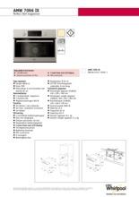 Product informatie WHIRLPOOL magnetron inbouw AMW7096IX