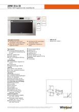 Product informatie WHIRLPOOL magnetron inbouw AMW814IX