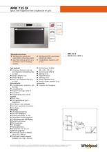 Product informatie WHIRLPOOL magnetron met grill inbouw AMW735IX