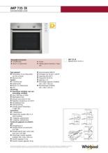 Product informatie WHIRLPOOL oven inbouw AKP735IX