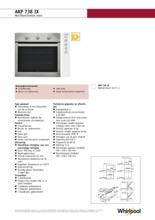 Product informatie WHIRLPOOL oven inbouw AKP738IX