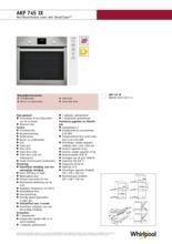 Product informatie WHIRLPOOL oven inbouw AKP745IX