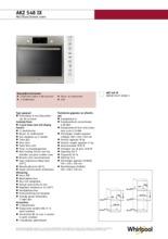 Product informatie WHIRLPOOL oven inbouw AKZ548IX