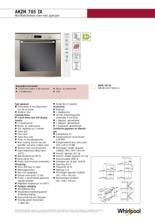 Product informatie WHIRLPOOL oven inbouw AKZM765IX