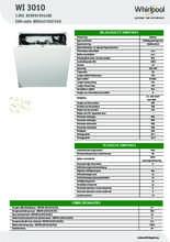 Product informatie WHIRLPOOL vaatwasser inbouw WI3010