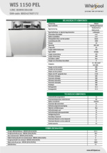 Product informatie WHIRLPOOL vaatwasser inbouw WIS 1150 PEL