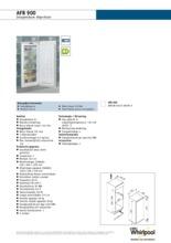 Product informatie WHIRLPOOL vrieskast inbouw AFB900