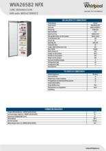 Product informatie WHIRLPOOL vrieskast rvs WVA26582NFX