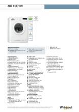 Product informatie WHIRLPOOL wasmachine AWO6567UM