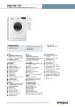 Product informatie WHIRLPOOL wasmachine AWO6587SM