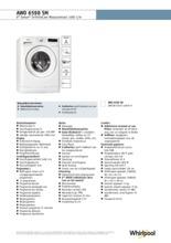 Product informatie WHIRLPOOL wasmachine AWO6598SM