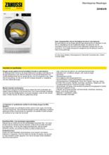 Product informatie ZANUSSI droger warmtepomp ZDHBARI
