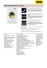 Product informatie ZANUSSI wasmachine ZWF71463W