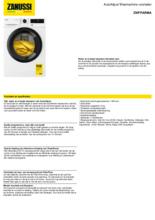 Product informatie ZANUSSI wasmachine ZWFPARMA