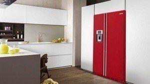 De ioMabe Amerikaanse koelkasten zijn ook leverbaar in 4 standaard kleuren