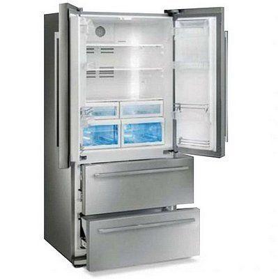 Nieuwe SMEG design koelkast met twee laden vries onder en ruim koelgedeelte boven