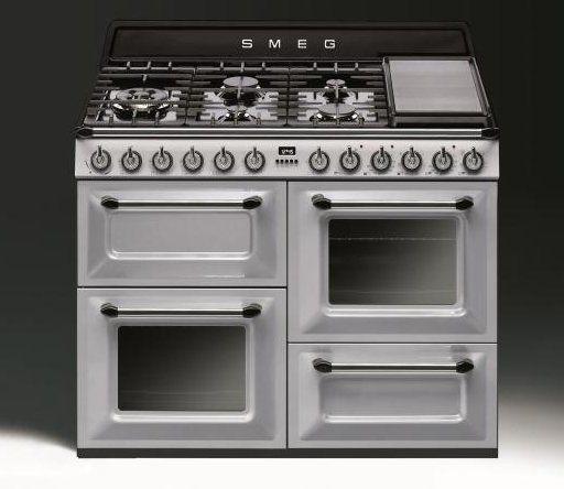 De SMEG fornuizen serie TR4110 nu ook leverbaar in de kleur zilver metallic (TR4110SNL)