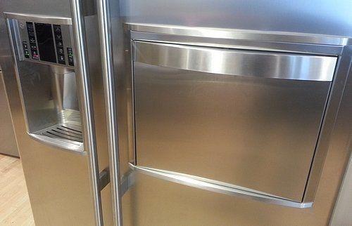 GENERAL ELECTRIC Amerikaanse koelkast uitgevoerd met ijsdispenser en minibar