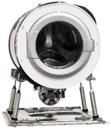 Het Quattro systeem met schokbrekers vormt de stabiele basis van elke Asko wasmachine