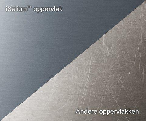 iXelium oppervlak zorgt voor veel minder krassen en voorkomt verkleuring
