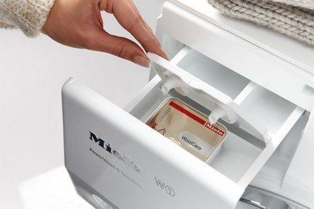 Nieuw: MIELE CapDosing. Praktisch dosering wasmiddel beschikbaar voor zes speciale wasmiddelen, drie wasverzachters en een Booster