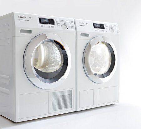 Foto van het nieuwe MIELE ChromeEdition design, beschikbaar op de wasmachine en drogers
