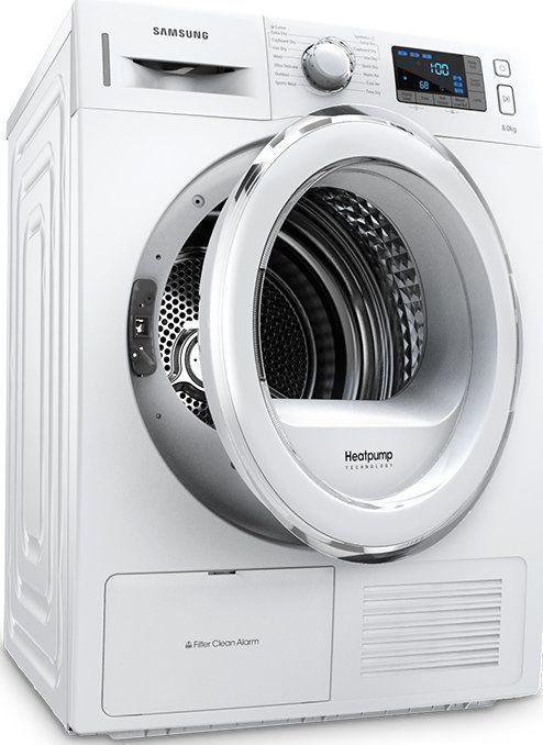 Warmtepompdrogers van SAMSUNG: zeer zuinig, stil en fraai