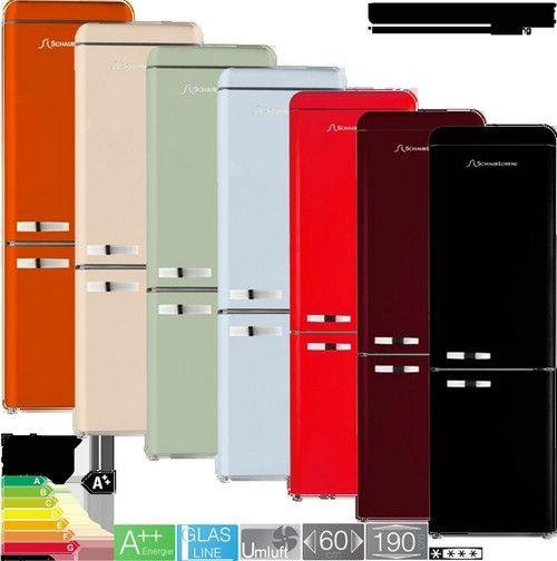 De retro jaren '50 koelkasten vanSchneider beschikken nu ook over een energieklasse A++ label
