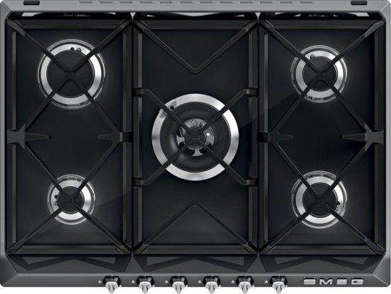 De bijpassende kookplaat type R975NE uitgevoerd in 70 cm. breed
